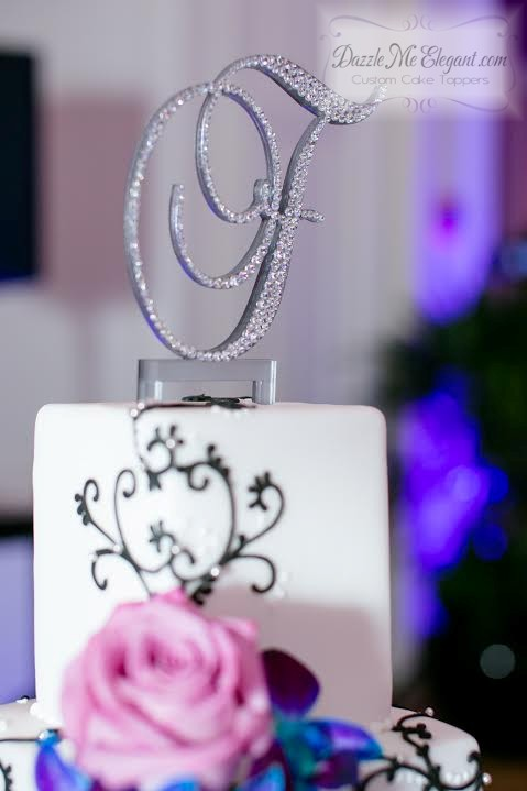 Crystal F Cake Topper