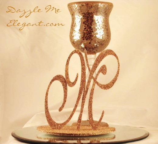 DIY Monogram Centerpiece