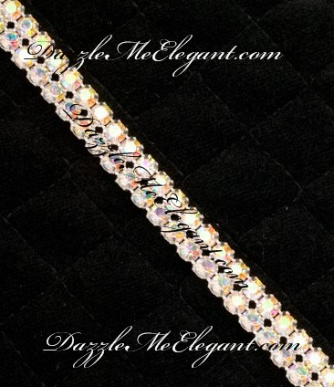 Iridescent Crystal AB Banding 2 Row by the foot (12 inches)