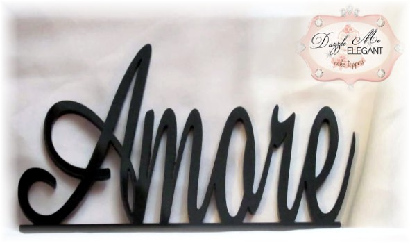 Amore Wedding Cake Topper