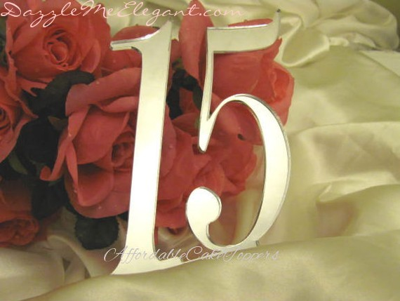 Plain Birthday & Anniversary Cake Topper