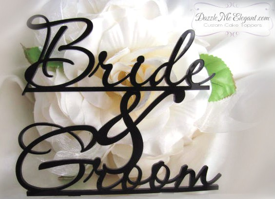 Bride and Groom Cake Topper-bride and groom cake topper, bride, groom, cake topper, cake