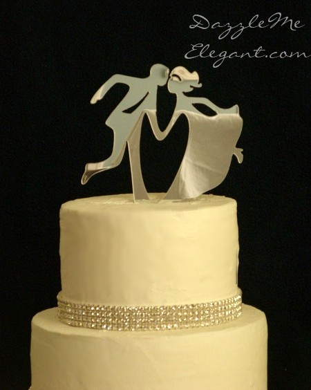 Cake Toppers Cake : Dancing Bride and Groom Cake Topper Wedding Cake Topper