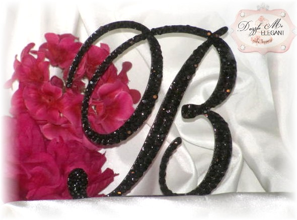 Black Crystal Letter B