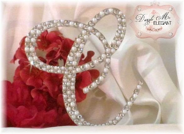 Crystal and Cream Pearl Letter C