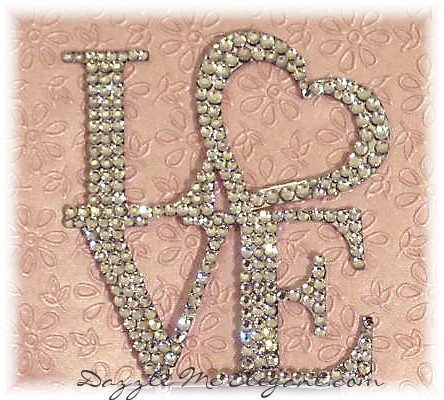 Crystal Rhinestone Love Heart Wedding Cake Topper