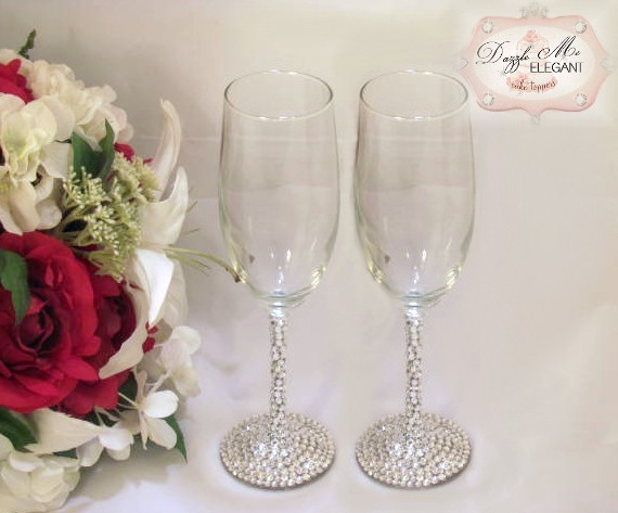 Crystal Toasting Flutes-toasting flutes, crystal flutes, champagne glasses, wedding glasses, wedding flutes