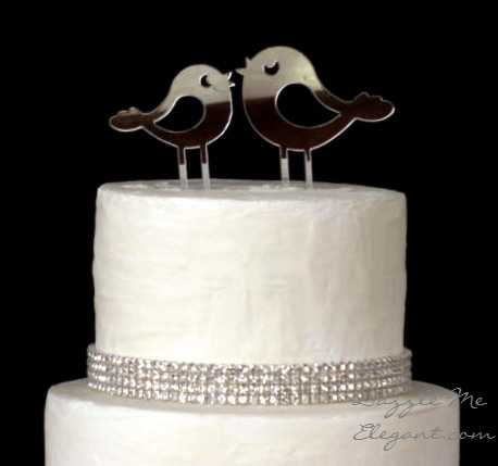 Love Birds Cake Topper-love birds, cake topper, cake, topper, bird topper, silver cake topper, wedding cake topper, love birds cake topper, love bird cake topper