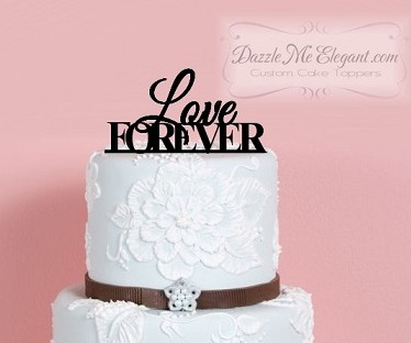 Love Forever Wedding Cake Topper