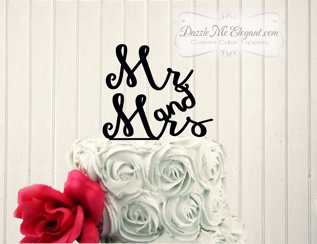 Mr and Mrs Wedding Cake Topper 3