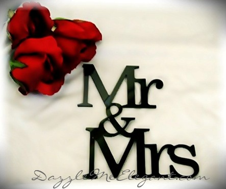 Mr & Mrs Cake Topper-black cake topper, mr and mrs cake topper, wedding cake topper, bride and groom cake topper, black topper, bride and groom cake toppers, traditional cake topper, stylish cake topper
