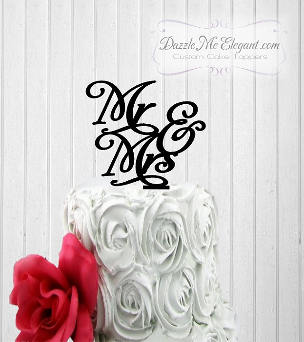 Mr & Mrs Wedding Cake Topper 5