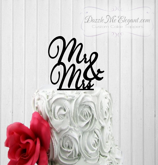 Mr & Mrs Wedding Cake Topper 4