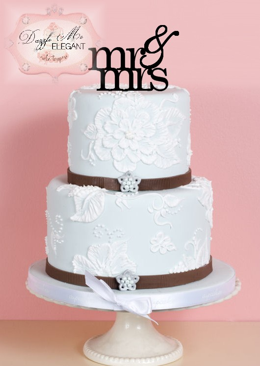 Mr & Mrs Wedding Cake Topper 2