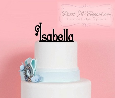 Name Cake Toppers | Birthday Name Cake Topper