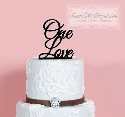 One Love Wedding Cake Topper