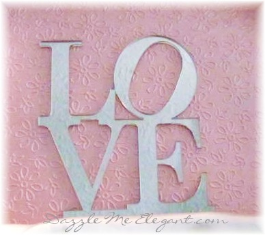 Plain Love Wedding Cake Topper
