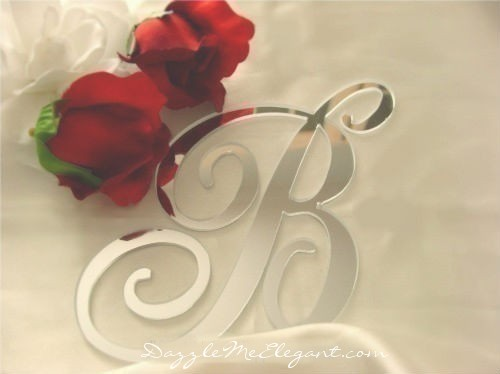 Letter Initial Cake Toppers