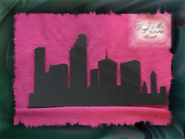 City Skyline Cake Topper