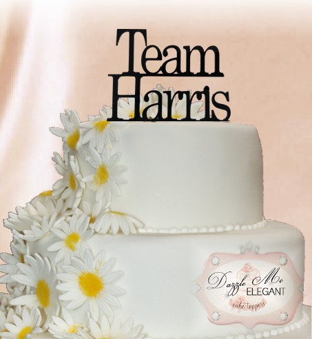 Team Bride & Groom Cake Topper-name cake topper, cake topper, personalized cake topper, personalize, bride and groom, wedding topper, custom cake topper, team cake toppers, team topper, team cake topper