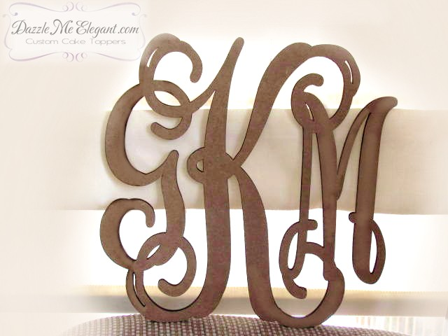 Triple Vine Monogram Wooden Craft Letters