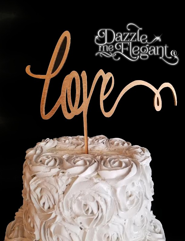 Romantic Love Cake Topper
