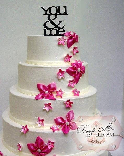 You & Me Wedding Cake Topper