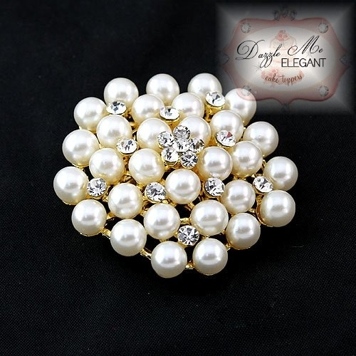 M Pearl Wedding Cake Toppers